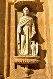 圣多明哥大教堂的艺术品3  库存照片