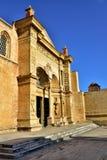 圣多明哥大教堂的Frontside视图  免版税库存照片