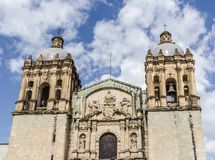 圣多明哥寺庙在瓦哈卡墨西哥 免版税图库摄影