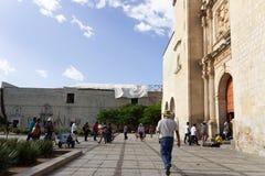 圣多明哥寺庙在瓦哈卡墨西哥 免版税库存图片