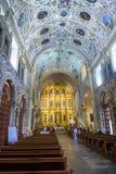 圣多明哥德古斯曼教会在瓦哈卡墨西哥 免版税库存图片