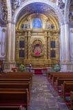 圣多明哥德古斯曼教会在瓦哈卡墨西哥 免版税图库摄影