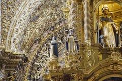 圣多明哥教会内部看法  免版税库存图片