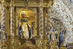 圣多明哥教会内部看法  免版税库存照片