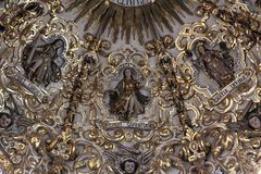 圣多明哥教会,普埃布拉,墨西哥 免版税库存图片