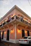 圣多明哥,多米尼加共和国 宫殿在Calle杜瓦特街道 免版税库存图片