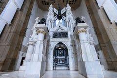 圣多明哥,多米尼加共和国- 2013年11月:克里斯托弗・哥伦布灯塔陵墓  免版税库存图片