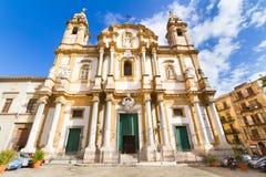 圣多明尼克,巴勒莫,意大利教会。 免版税图库摄影