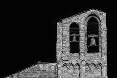 圣多梅尼科大教堂钟楼在阿雷佐 库存照片