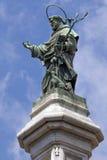 圣多梅尼科雕象在那不勒斯,意大利 免版税库存图片