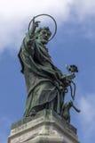 圣多梅尼科雕象在那不勒斯,意大利 免版税图库摄影