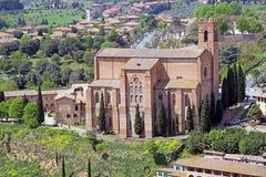 圣多梅尼科,锡耶纳,托斯卡纳,意大利大教堂  图库摄影