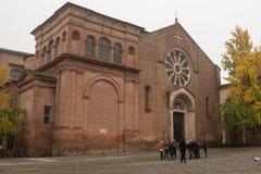 圣多梅尼科-历史多米尼加共和国的教会,波隆纳,意大利大教堂  免版税库存图片