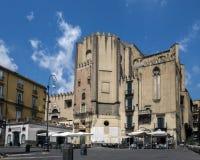 圣多梅尼科Maggiore在那不勒斯,意大利 库存图片