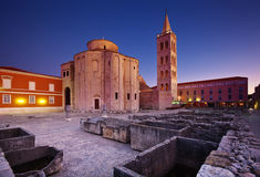 圣多纳特教会在Zadar的 库存照片