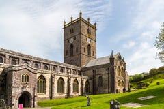 圣大卫的大教堂,威尔士 库存照片
