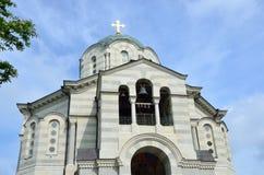圣大教堂相等与传道者王子弗拉基米尔-皇家俄国海军海军上将的地下埋葬室在塞瓦斯托波尔,哥斯达黎加 免版税库存照片