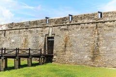 圣奥古斯蒂娜堡垒,佛罗里达 库存图片