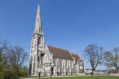 圣奥尔本教会在哥本哈根,丹麦 库存图片