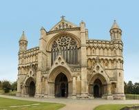 圣奥尔本斯大教堂赫特福德郡英国 免版税库存图片