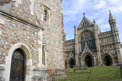 圣奥尔本斯大教堂herfordshire英国 免版税图库摄影