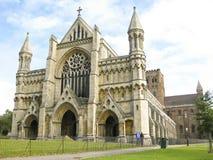 圣奥尔本斯大教堂herfordshire英国 库存照片