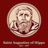 圣奥斯丁河马354 –430是一位罗马非洲,早期的基督徒神学家和哲学家从文字的努米底亚 皇族释放例证