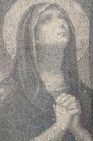 圣女玛丽亚祈祷 免版税库存照片