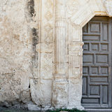 圣安东尼奥使命门细节 库存照片