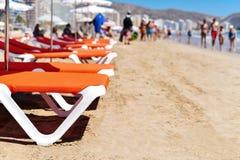 圣安东尼奥海滩在库列拉角,西班牙 库存图片