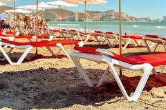 圣安东尼奥海滩在库列拉角,西班牙 库存照片