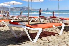 圣安东尼奥海滩在库列拉角,西班牙 免版税图库摄影
