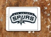圣安东尼奥马刺美国蓝球队商标 免版税库存图片