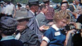 圣安东尼奥,得克萨斯1957年:会集人的家庭聚会碾碎以旧时时尚 影视素材