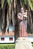 圣安东尼奥de勃拉Mission在加利福尼亚 免版税库存图片
