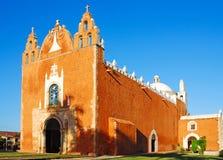 圣安东尼奥de帕多瓦教会在Ticul 图库摄影