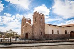 圣安东尼奥de帕多瓦教会-圣安东尼奥de los Cobres,萨尔塔,阿根廷 库存照片