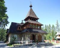 圣安东尼教会在扎科帕内在波兰 库存图片