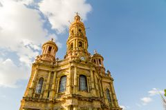 圣安东尼教会- Templo de圣安东尼奥de帕多瓦, Aguascalie 库存照片