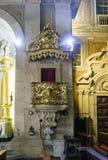 圣安东尼` s教会的内部在18世纪和非常波尔布特聚集修造 免版税图库摄影