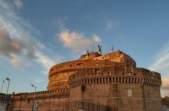 圣安吉洛Castel Sant安吉洛,罗马,意大利城堡  免版税库存照片