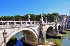 圣安吉洛桥梁  库存图片