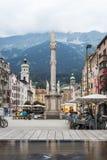 圣安妮专栏在因斯布鲁克,奥地利。 免版税库存图片