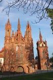圣安妮天主教会在维尔纽斯 免版税图库摄影