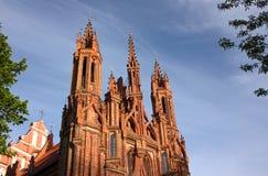 圣安妮天主教会的片段在维尔纽斯 库存照片