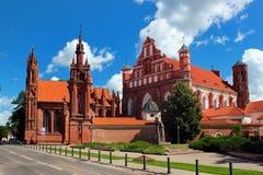 圣安妮教会在维尔纽斯,立陶宛 免版税库存图片