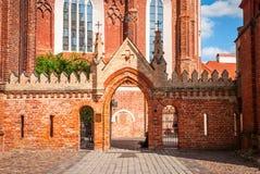 圣安妮教会在维尔纽斯,立陶宛 免版税库存照片
