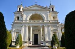 圣安妮牧师会主持的教堂在Wilanow (华沙,波兰) 免版税库存图片