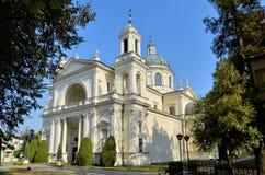 圣安妮牧师会主持的教堂在Wilanow (华沙,波兰) 库存照片