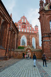 圣安妮的天主教会和Bernardine天主教会, 库存图片